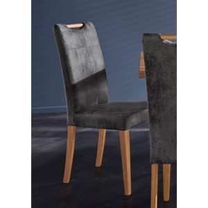 Stuhl Roberta Bezug aus strapazierfähiger Microfaser (2 Stück) grau