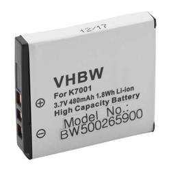vhbw Akku 480mAh (3.6V) für Phisung HDV-D505SC, Praktica DMMC-3D, DMMC3D wie Klic-7001, DLi-213, VG0376122100001.