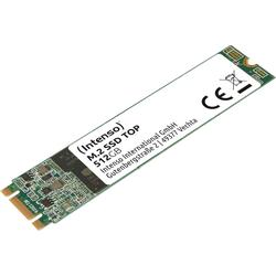 Intenso M.2 SSD Top SSD-Festplatte (512 GB) 520 MB/S Lesegeschwindigkeit, 500 MB/S Schreibgeschwindigkeit) 512 GB