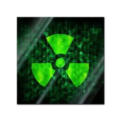 Bilderdepot24 Glasbild, Glasbild - Radioaktiv 20 cm x 20 cm