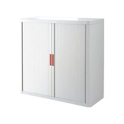 EASYOFFICE Rollladenschrank easyOffice Korpus weiß, Griff farbig 110 cm x 104 cm x 41.5 cm