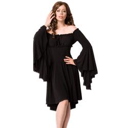 Mittelalter Kleid schwarz