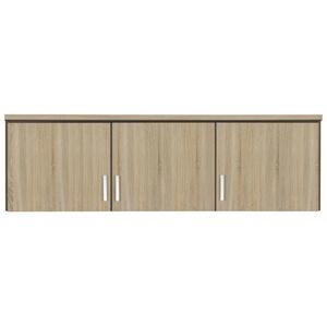 Rauch Möbel Bremen Schrankaufsatz für zusätzlichen Stauraum für den Kleiderschrank 3-türig, Eiche Sonoma, kombinierbar mit Schrank-Breite 136 cm aus Modellserie Bremen BxHxT 136x39x54 cm
