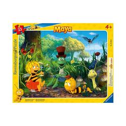 Ravensburger Puzzle Rahmenpuzzle Biene Maja und Freunde, 33 Teile, Puzzleteile