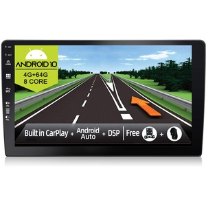 JOYX Android 10 Doppel Din Autoradio - Mit GPS Navi - [4G+64G] - Eingebaut DSP Carplay Android Auto - 4LED Rückfahrkamera KOSTENLOS - 9 Zoll - Unterstützen DAB Lenkradsteuerung 4G WiFi Bluetooth5.0