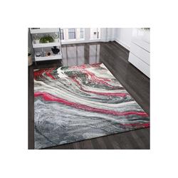 Teppich Ein Designer Teppich mit authentischen Lawa Look Muster/ Rot, Vimoda 120 cm x 170 cm