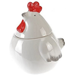"Testrut Marmeladenglas Marmeladenglas ""Huhn"" Keramik weiß ca. 10,3x11cm (3 Stück), (3-tlg)"