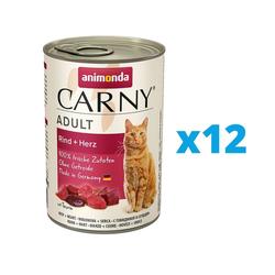 ANIMONDA Carny Adult Set Rind + Herz 12 x 400 g