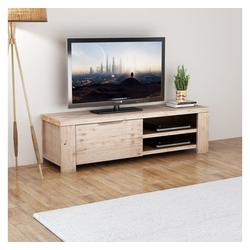 vidaXL TV-Schrank vidaXL TV Schrank Gehobeltes Akazienholz 140 x 38 x 40 cm
