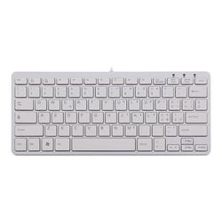 R-Go Compact Tastatur, QWERTY (IT), weiß, drahtgebundenen