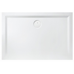 Hoesch Mineralguss-Duschwanne MUNA 800 x 700 x 30 mm weiß