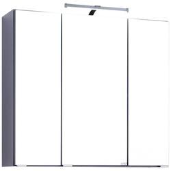 HELD MÖBEL Spiegelschrank Texas Breite 70 cm, mit LED-Aufbauleuchte grau