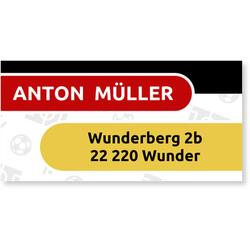 Adressaufkleber (10 Karten) selbst gestalten, Fussball Sticker adressaufkleber -