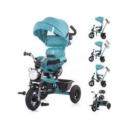 Chipolino Dreirad Tricycle Dreirad City, Schiebegriff, Gummiräder, mit Melodien, Korb blau