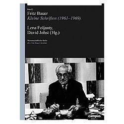Fritz Bauer  in 2 Teilbänden. Fritz Bauer  - Buch