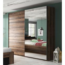 Schwebetürenschrank Beta mit Spiegel 221 cm x 210 cm x 61 cm