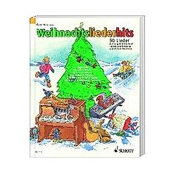 Weihnachtsliederhits  für Klavier  Akkordeon  Keyboard und Gitarre - Buch