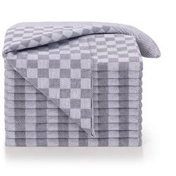 Blumtal Geschirrtuch Hochwertige Geschirrhandtücher, 100% Baumwolle, 50x70cm, (Set, 20-tlg., Set bestehend aus 5, 10 oder 20 Geschirrtücher) grau