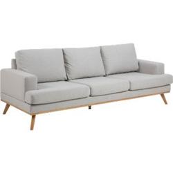 Sofa Nord 3 Sitzer Couch Garnitur Sofagarnitur Polstersofa Couchgarnitur grau