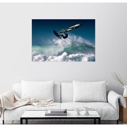 Posterlounge Wandbild, Windsurfer in der Luft 30 cm x 20 cm