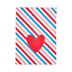 "rice Geschirrtuch Geschirrtuch ""Candy Stripes"", 50x70cm blau"