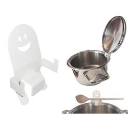 KDR Produktgestaltung Topfdeckel Topfdeckelhalter Befestigung am Kochtopf, (1-tlg), Spülmaschinen geeignet