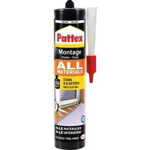Pattex Montagekleber ALL Materials, PXA45, 450g, Kraftkleber, ohne Lösungsmittel, weiß