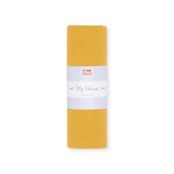 PRYM Musselin UNI, senf, 1, 100% Baumwolle, Stoffe, Musselin