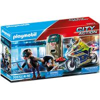 Playmobil City Action Polizei-Motorrad: Verfolgung des Geldräubers 70572