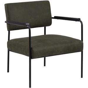 AC Design Furniture Cam Armchair, Fabric, Green, L: 67 x W: 66,5 x H: 77 cm