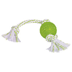 Nobby Hundespielzeug TPR Ball mit Seil
