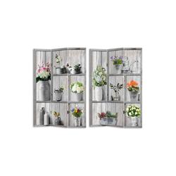 HTI-Line Paravent Paravent Flora (1 Stück), Nur für den Innenbereich geeignet