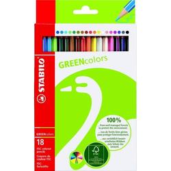 Farbstifte GREENcolors Etui mit 18 Stiften