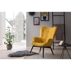 SalesFever Loungesessel, Zierknöpfe in Sitz und Rücken gelb