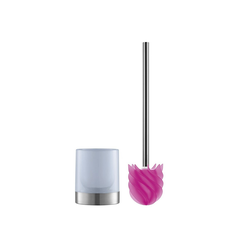WC-Reinigungsbürste, LOOMAID, (2-tlg), WC-Bürste Silikonkopf pink/milchig