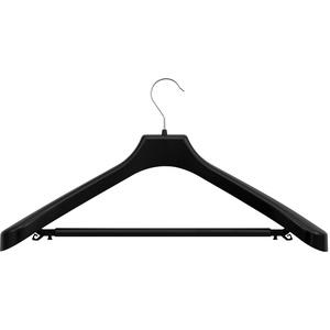 3er Set Kleiderbügel Hosenbügel Haken Steg B 50 cm schwarz Kunststoff gross