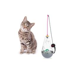 relaxdays Tier-Beschäftigungsspielzeug Katzenspielzeug 3 in 1, PP grau