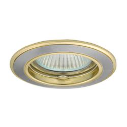 Einbaustrahler BASK, rund, Alu/Druckguss, 78mm, Satinnickel/Gold