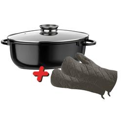 XXL Keramik Aroma-Induktionsbräter Gourmet 10L + Topfhandschuhe Gratis dazu