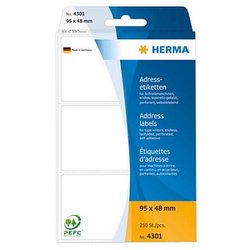 250 HERMA Adressetiketten 4301 weiß