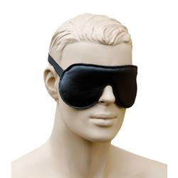Bondag Leder Augenmaske Augenbinde mit Gummizug schwarz