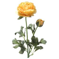 Kunstblume Ranunkeln Blüten & Knospen 1 Stk ca 40 cm apricot Ranunkeln, matches21 HOME & HOBBY, Höhe 40 cm, Indoor orange