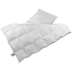 Odenwälder Bettdecke & Kissen Set, Daunen (60%), 135 x 200 und 80 x 80 cm weiß