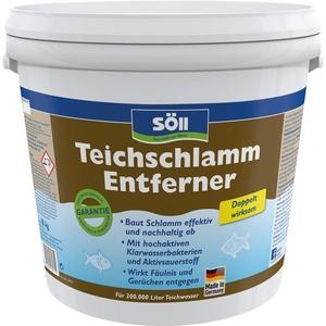 Söll 13575 TeichschlammEntferner doppelt wirksam gegen Teichschlamm 10 kg - biologischer Teichreiniger entfernt organischen Schlamm und Ablagerungen im Gartenteich Fischteich Schwimmteich Koiteich