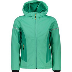 CAMPAGNOLO Softshelljacke Campagnolo Girls Light Softshell-Jacke sportliche Kinder Outdoor-Jacke winddicht Freizeit-Jacke Grün