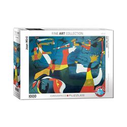 EUROGRAPHICS Puzzle Schwalbe Liebe von Joan Miró 1000 Teile Puzzle, Puzzleteile
