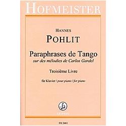 Paraphrases de Tango  Klavier. Hannes Pohlit  - Buch