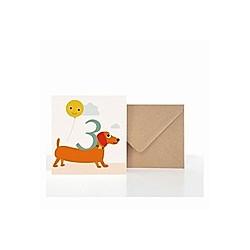 Grußkarte 3. Geburtstag (VE5)