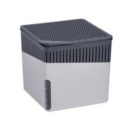 WENKO Luftentfeuchter Cube, 500 g, Raumentfeuchter zum Schutz vor Schimmel und unangenehmen Gerüchen, Farbe: grau