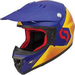 Scott 250 S14 Crosshelm Kinder - Rot/Blau - L